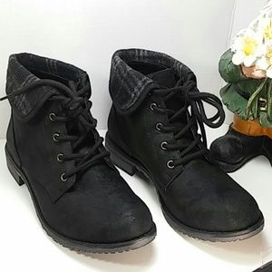 Lace Up Brown Ankle Cuff Mountain Boots sz 7.5&6.5